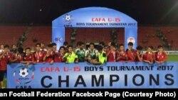 تیم فوتبال ۱۵ سال افغانستان با کسب ۹ امتیاز برنده جام فوتبال کشور های آسیای مرکزی شد.