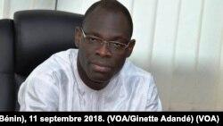 Hervé Coovi Guedegbe, secrétaire exécutif de l'autorité de Régulation des communications électroniques et de la poste du Bénin (ARCEP Bénin), 11 septembre 2018. (VOA/Ginette Adandé)