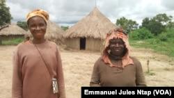 Ces agricultrices riveraines au campement, au Cameroun, le 15 septembre 2017. (VOA/Emmanuel Jules Ntap)