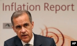Bank of England Governor Mark Carney speaks during the central Bank's quarterly Inflation report at the Bank of England in the City of London, May 11, 2017.