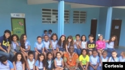 Pedro visitando o Colégio Adventista da Bahia na cidade de Cachoeira