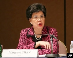 FILE - WHO Director General Margaret Chan says Ebola has killed more than 1,900 in West Africa.