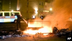 Беспорядки в Швеции. Архивное фото.