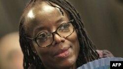 L'auteur zimbabwéen Tsitsi Dangarembga est photographié à la foire du livre de Francfort à Francfort-sur-le-Main, dans l'ouest de l'Allemagne, le 12 octobre 2018.