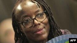 L'écrivaine zimbabwéenne Tsitsi Dangarembga à la foire du livre de Francfort en Allemagne, le 12 octobre 2018.