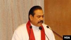 Presiden Sri Lanka, Mahinda Rajapaksa.