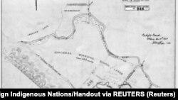 Skica područja na kom se nalazi Indijanska rezidencijalna škola u kanadskoj provinciji Saskačuan - gde je grupa indijanskih starosedelaca pronašla neobeležena grobna mesta (Foto: Reuters/National Centre for Truth and Reconciliation)