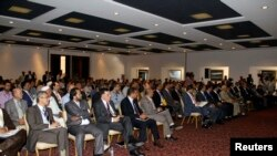 Lawmakers from Libya's newly-elected parliament assembled in Tobruk, August 2, 2014.