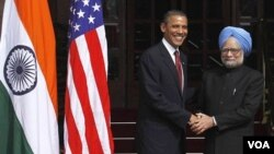 Prezidan Barack Obama ak Premye Minis Manmohan Singh