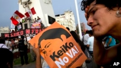 Lima y otras ciudades peruanas fueron escenarios de protestas contra la candidatura presidencial de Keiko Fujimori.