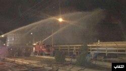 عکسی که سایت انتخاب از پایان مهار آتش منعکس کرده است.