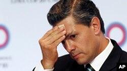 Presiden Meksiko, Enrique Peña Nieto menjalani operasi pengangkatan kantung empedu Minggu, 28/6 (foto: dok).