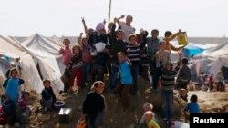 Trẻ em tại trại tị nạn Bab Al-Salam ở Azaz gần biên giới Syria-Thổ Nhĩ Kỳ.