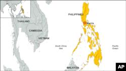 Peta wilayah Filipina.