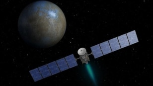 NASA's Dawn spacecraft heading toward the dwarf planet Ceres.   (Image - NASA/JPL-Caltech)