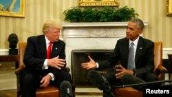 Predsednik Barak Obama i novoizabrani predsednik Donalod Tramp