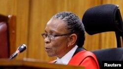 Une juge dans un cour de justice de Pretoria, en Afrique du sud, le 11 septembre 2014.