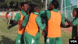 FC Platinum players in jovial mood ...