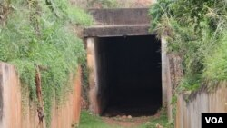 Late Ugandan strongman Idi Amin built the pictured chamber on the grounds of Buganda Lubiri Palace to store weapons and ammunition, but it was later used for torture. The chamber is now part of a guided tour. (H. Athumani for VOA)