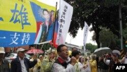 蓝营抗议群众