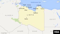Peta wilayah Libya.