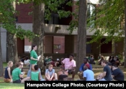 New Hampshire College students gather for orientation in 2016.