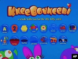 KneeBouncers' colorful welcome screen offers more than a dozen games