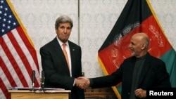 Джон Керри и афганский президент Ашраф Гани