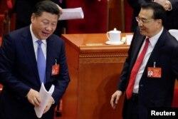 시진핑(왼쪽) 중국 국가주석과 리커창 총리.
