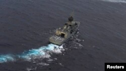 Chiến hạm HMAS Perth của Hải quân Hoàng gia Australia.