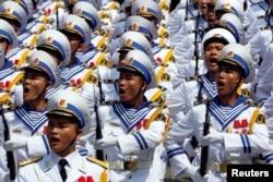 베트남 해군 의장대.