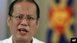 Philippine President Benigno Aquino III delivers a speech on national television at the Malacanang Presidential Palace in Manila, Philippines. (File photo).