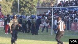Police monitoring fans at BF.