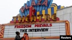 """Atlanta kentinde tartışmalı """"The Interview"""" filmini gösterime sokan bir sinema"""