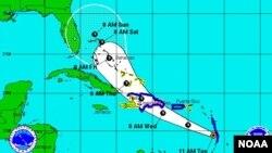 Este miércoles 10 de julio la tormenta pasaría sobre la isla La Española donde se encuentran Haití y República Dominica.