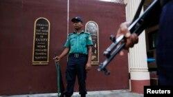 دھمکی کے بعد سفارت خانے کی عمارت کے اردگرد سکیورٹی میں بڑھادی گئی ہے۔