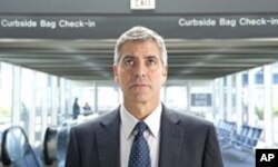 George Clooney in scene from Up In The Air