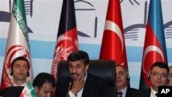 艾哈迈迪内贾德星期四对经济合作组织讲话