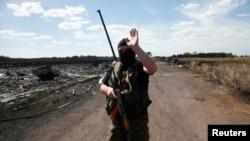 Phiến quân vũ trang thân Nga tại Donetsk, miền đông Ukraine.