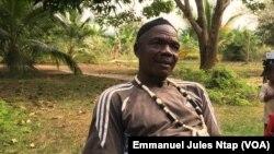 Michel Bebine Amata, chef du village Botombo, le 12 janvier 2021.