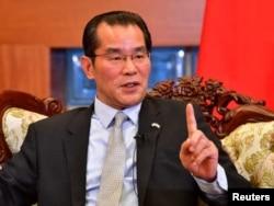 资料照:中国驻瑞典大使桂从友