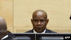 Mathieu Ngudjolo lors de son procès à la CPI