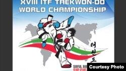불가리아 수도 소피아에서 열리는 2013 ITF 태권도 세계선수권대회 포스터