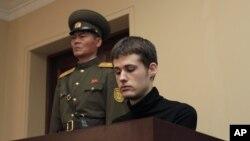 Ông Mathew Miller, công dân Mỹ, bị tuyên án 5 năm tù khổ sai về tội 'hành động thù địch' chống Bình Nhưỡng.