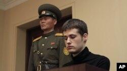 Ông Matthew Todd Miller 24 tuổi, công dân Mỹ, bị tuyên án 5 năm tù khổ sai về tội 'hành động thù địch' chống Bình Nhưỡng.