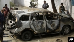 En febrero pasado la esposa de un diplomático israelí fue herida por una bomba colocada en su auto en Nueva Delhi, India.