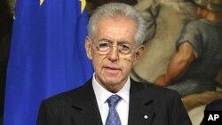 Italian Prime Minister Mario Monti. (file photo)