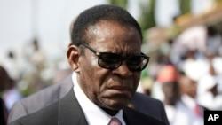 Le président Teodoro Obiang Nguema Mbasog de la Guinée équatoriale, 29 mai 2015.