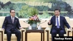 시진핑 중국 국가주석이 지난 1일 베이징 인민대회당에서 리수용 북한 노동당 중앙위원회 부위원장과 면담했다고 관영 신화통신이 보도했다.