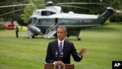 Tổng thống Obama cho biết Washington sẽ không phái binh lính đến tác chiến trên bộ ở Iraq, Tòa Bạch Ốc, 13/6/2014.